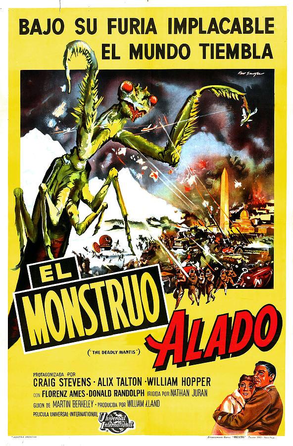 1950s Poster Art Photograph - The Deadly Mantis, Aka El Monstruo by Everett