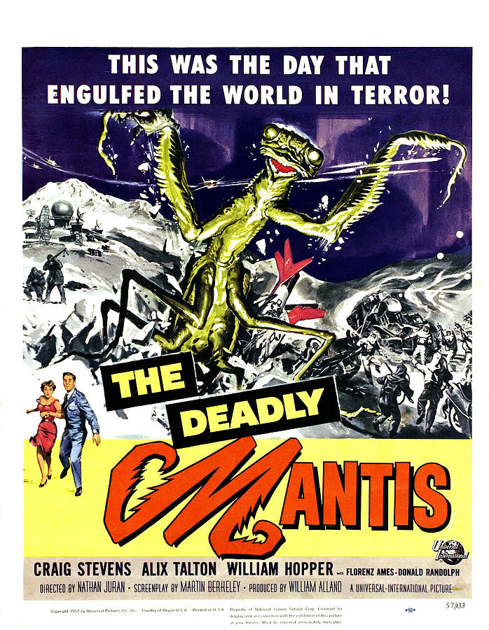1957 Movies Photograph - The Deadly Mantis, Bottom From Left by Everett