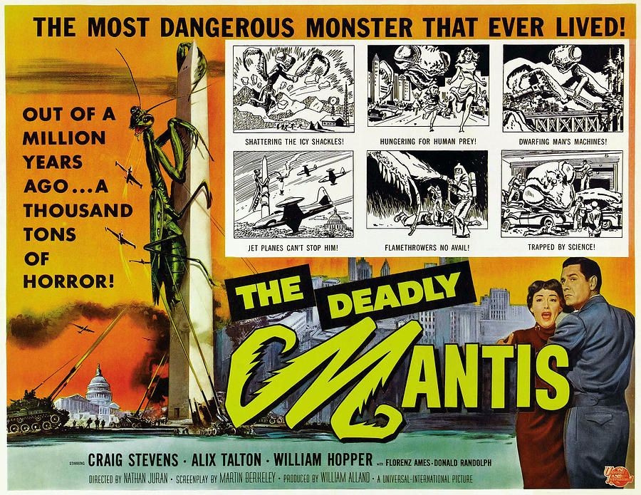 1957 Movies Photograph - The Deadly Mantis, Bottom Right by Everett