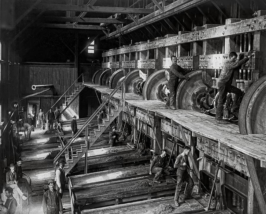 Gold Photograph - The Deadwood Terra Gold Ore Stamp Mill C. 1888 by Daniel Hagerman
