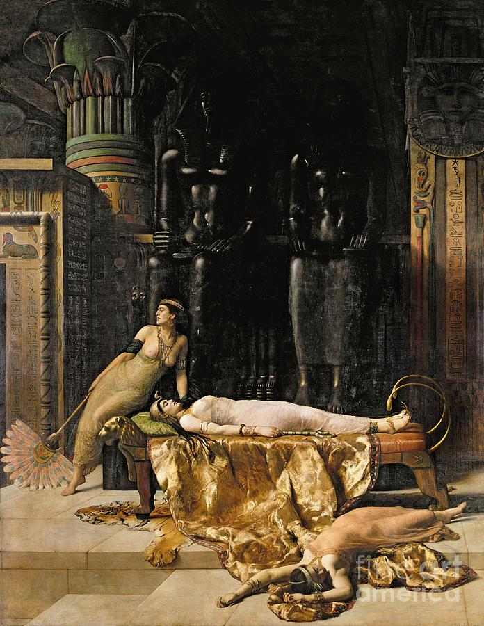 Tigerskin; Fan Painting - The Death Of Cleopatra  by John Collier
