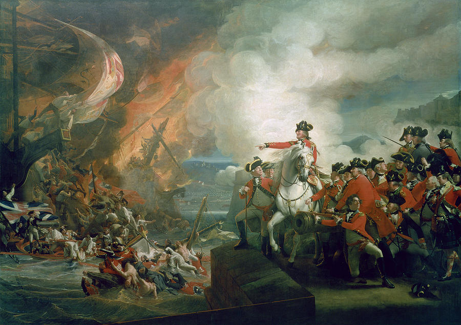 Wars Painting - The Defeat Of The Floating Batteries At Gibraltar by John Singleton Copley