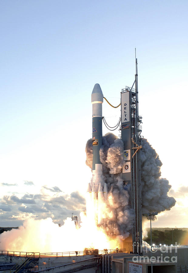 Color Image Photograph - The Delta II Rocket Lifts by Stocktrek Images