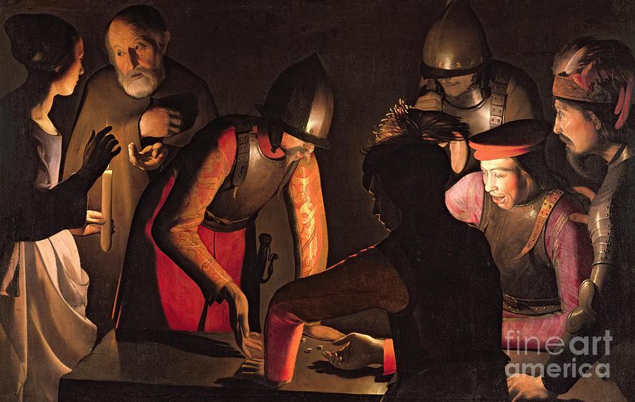 Saints Painting - The Denial Of Saint Peter by Georges De La Tour