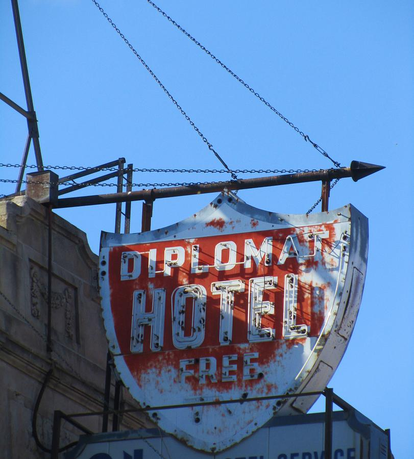 Hotel Neon Photograph - The Diplomat Hotel Chicago by Todd Sherlock