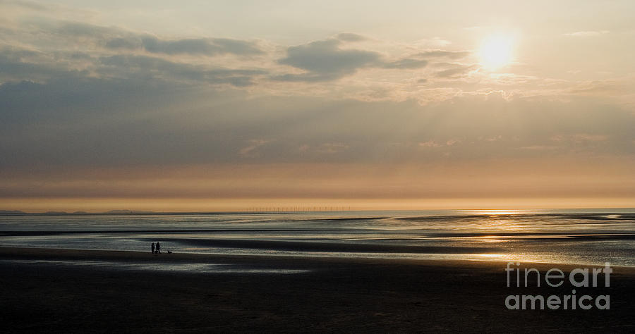 Sunset Photograph - The Dog Walkers by Wayne Molyneux