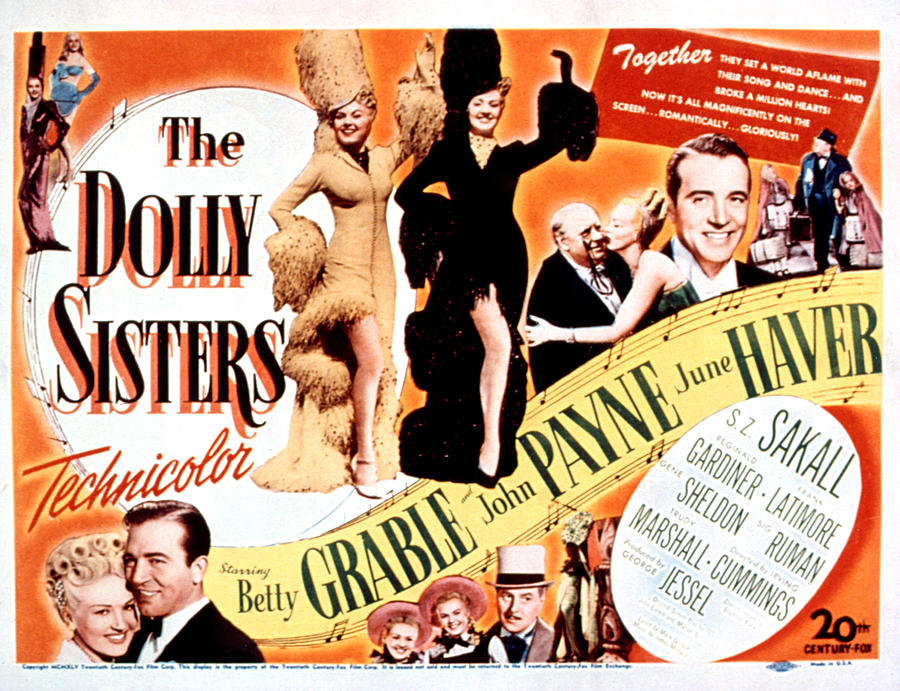 1940s Movies Photograph - The Dolly Sisters, Betty Grable, June by Everett