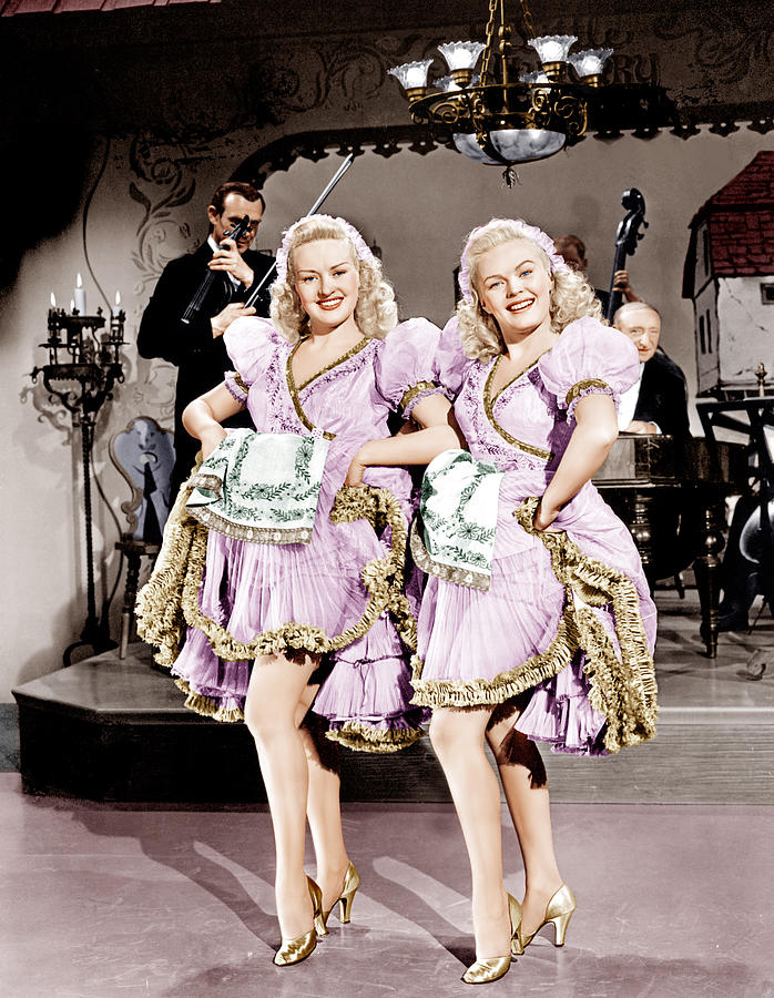 1940s Movies Photograph - The Dolly Sisters, From Left Betty by Everett