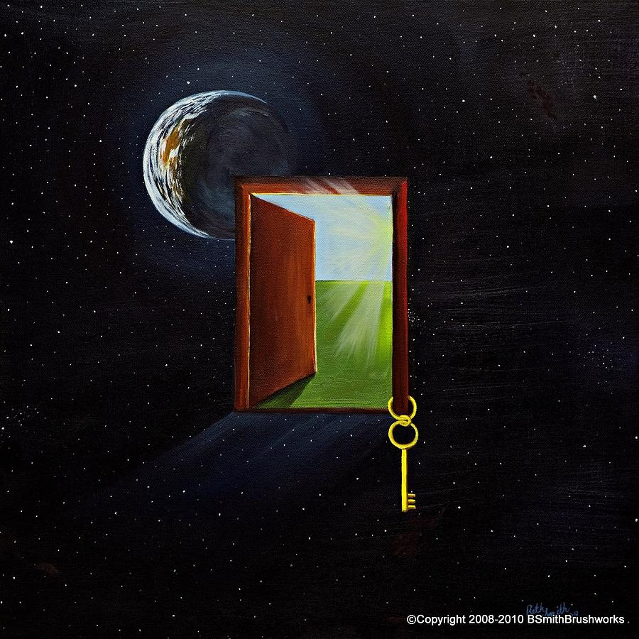 Surreal Painting - The Door by Beth Smith