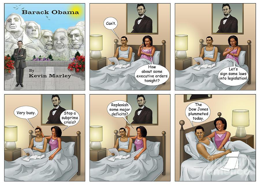 Barack  Obama Digital Art - The Dow Jones Plummetted by Kevin  Marley