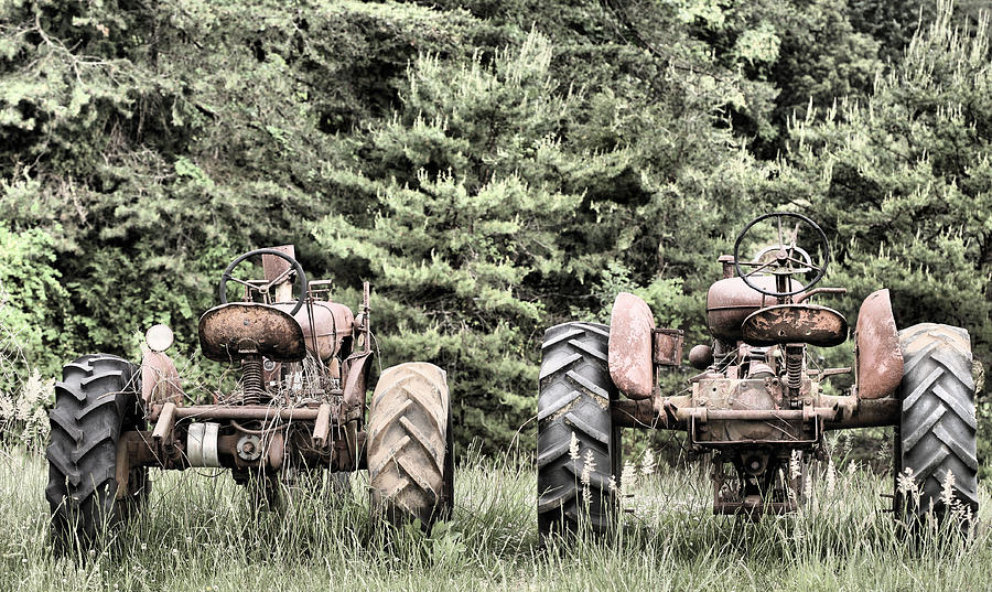 Tractor Photograph - The Drag Race by JC Findley
