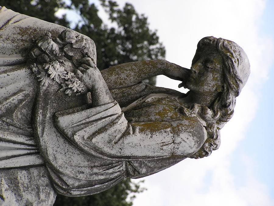 Statue Photograph - The Dreamer by Andrea Drake