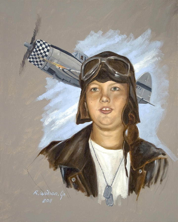 P-47 Painting - The Dreamer by Karen Wilson