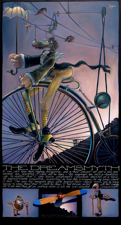 Velocipede Painting - The Dreamsmyth by Patrick Anthony Pierson