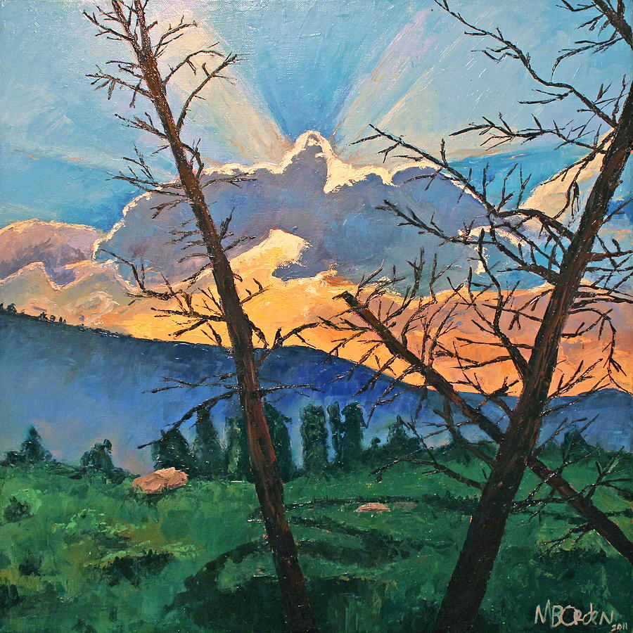 Sunset Painting - The Drive Home by Missy Borden