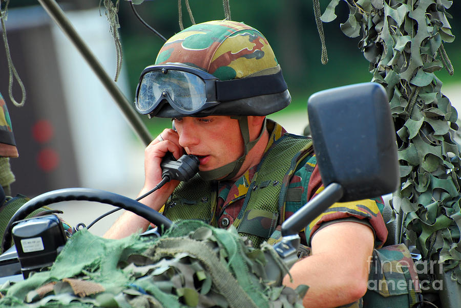 Belgium Photograph - The Driver Of A Mortar Section by Luc De Jaeger