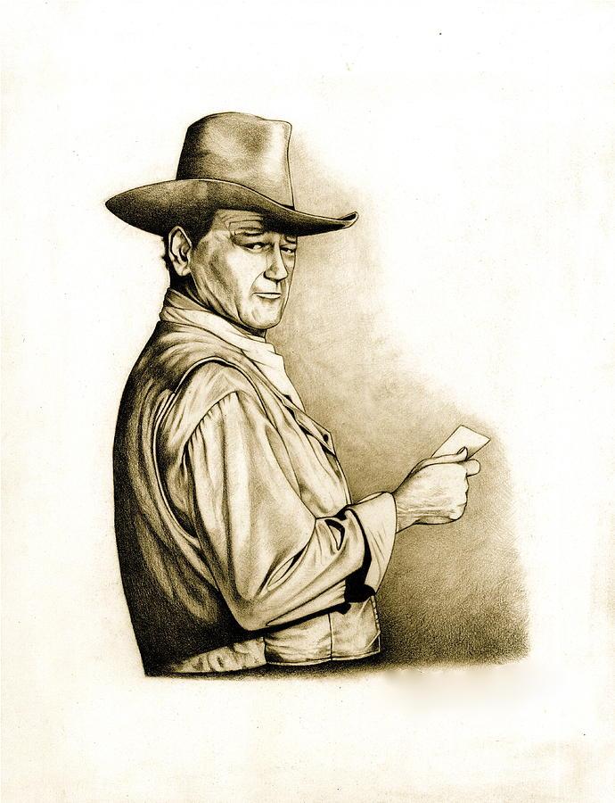 The Duke Drawing - The Duke by Jamie Warkentin