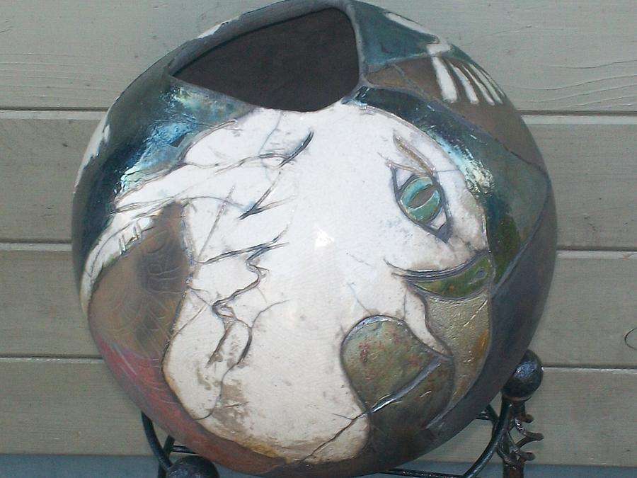 Clay Ceramic Art - The Eagle by Susan Bornstein