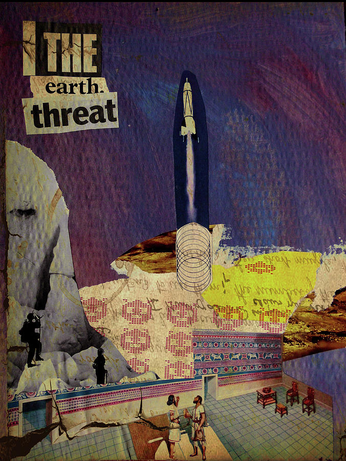 Sci-fi Mixed Media - The Earth Threat by Adam Kissel