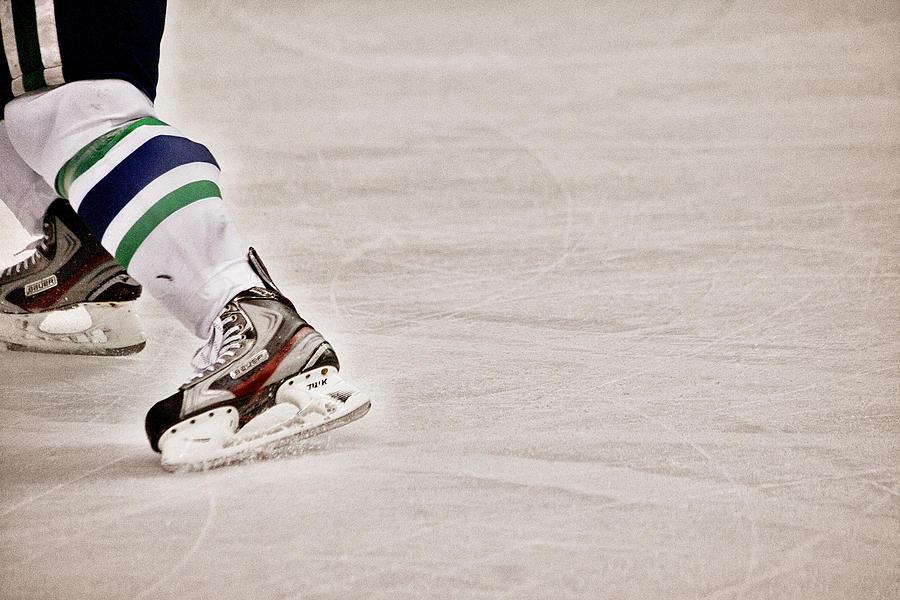 Hockey Photograph - The Edge by Karol Livote