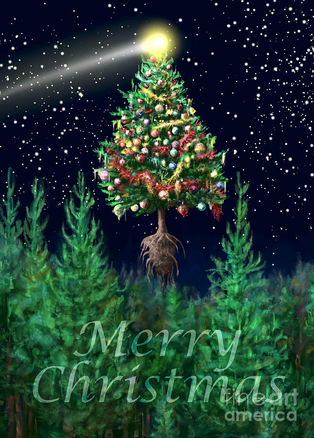 merry christmas images portrait the egregious merry christmas tree portrait digital art by kightley