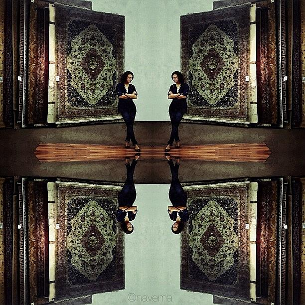 Symmetry Photograph - The Egyptian Girl & The Persian Carpets by Natasha Marco