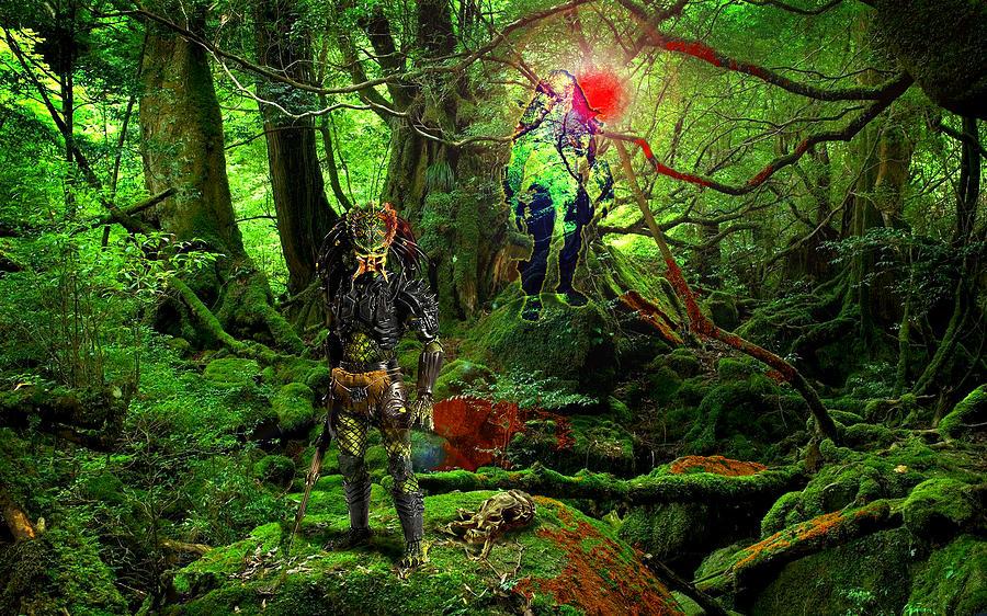 Alien Species Digital Art - The Elders by Casey P