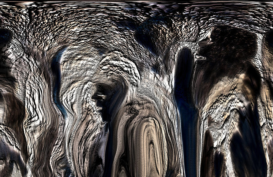 Abstract Digital Art - The Elephant And The Cave Man by Sherris - Of Palm Springs