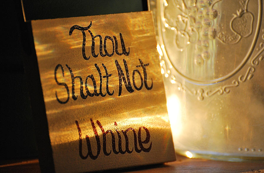 Still-life Photograph - The Eleventh Commandment by Kimberly Little