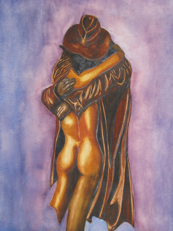 Embrace Painting - The Embrace by Emmanuel Turner