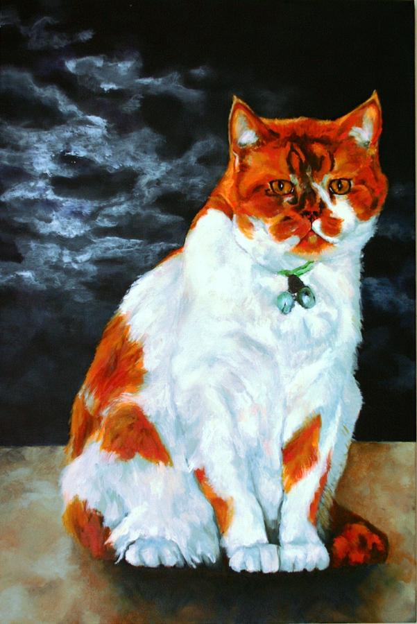 Cat Painting - The Emperor by Jolante Hesse