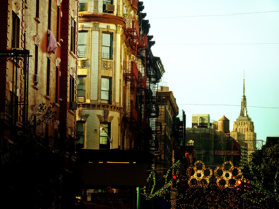 New York City Photograph - The Empire State Building And Little Italy - New York City by Vivienne Gucwa