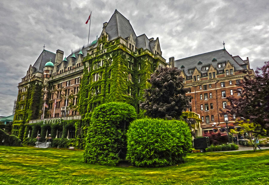 Empress Hotel Photograph - The Empress Hotel On Victoria Island by Gregory Dyer