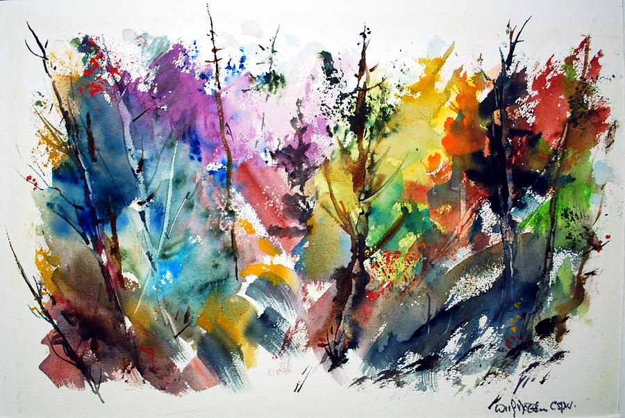 The Enchanted Forest Painting by Wilfred McOstrich