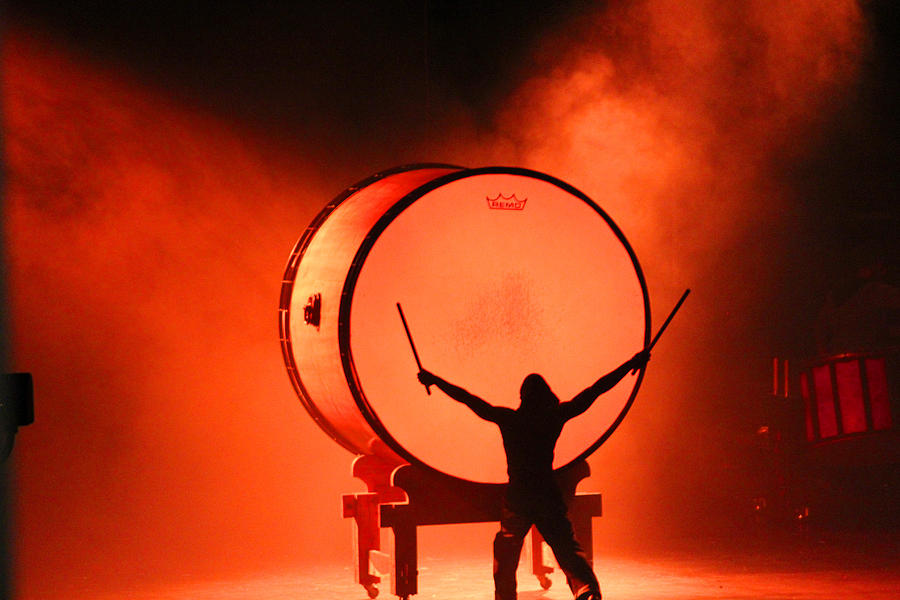 Drum Photograph - The End by Becky Lodes