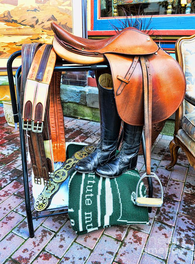 English Saddle Photograph - The English Saddle by Paul Ward