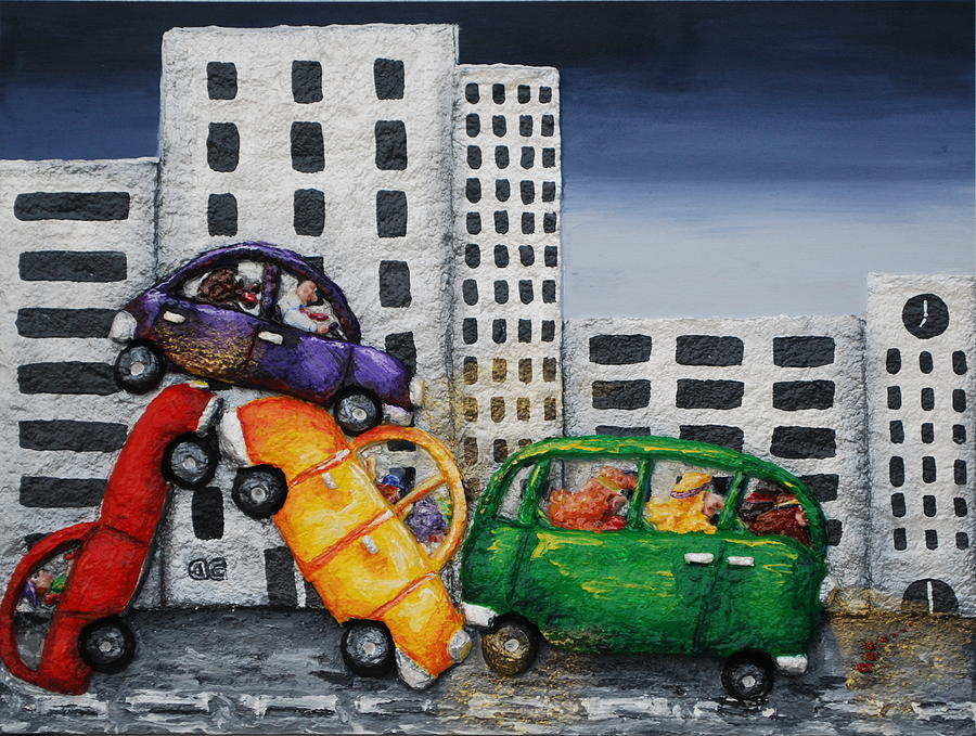 Cars Painting - The Environmentalists by Alison  Galvan