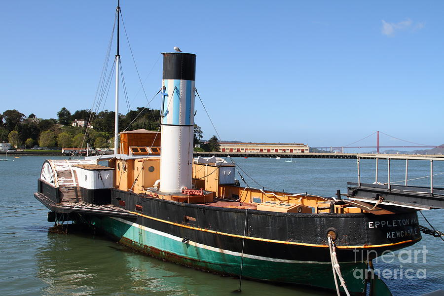 The Eppleton Hall A 1914 Steam Sidewheeler Tug Boat At The Hyde