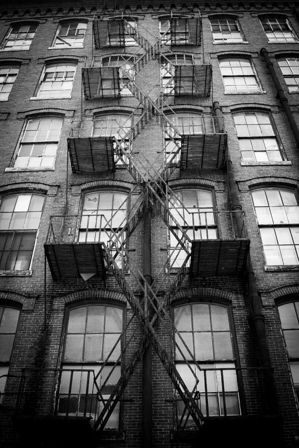 Fire Escape Photograph - Fire Escape Detail by Vintage Pix