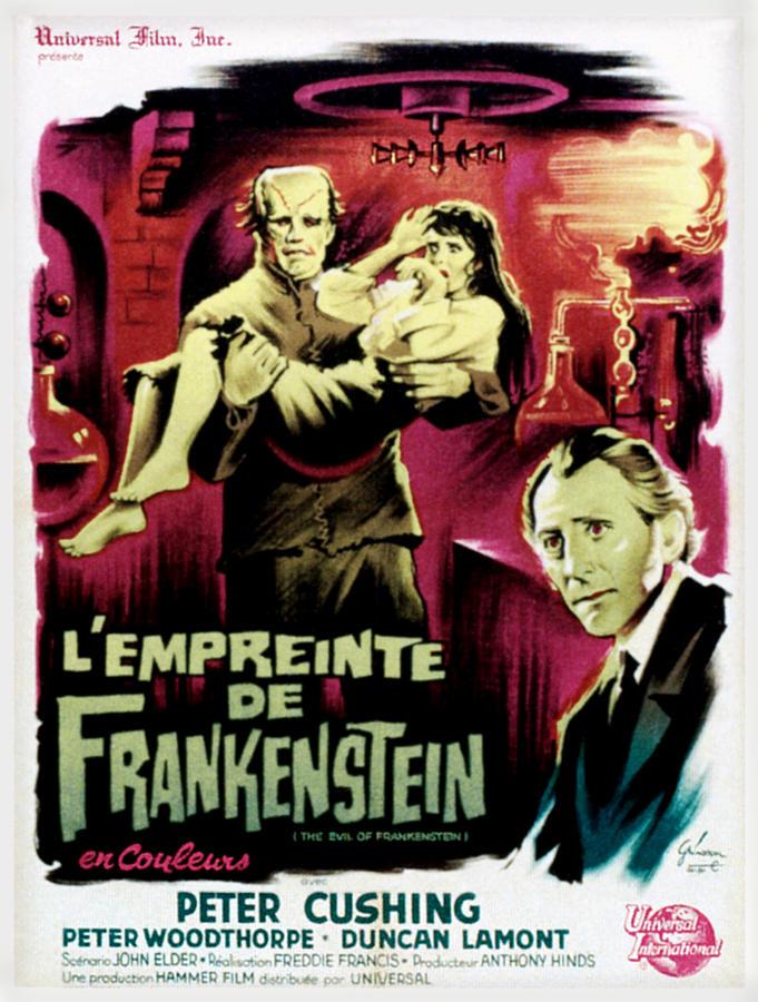 1964 Movies Photograph - The Evil Of Frankenstein Aka Lempreinte by Everett