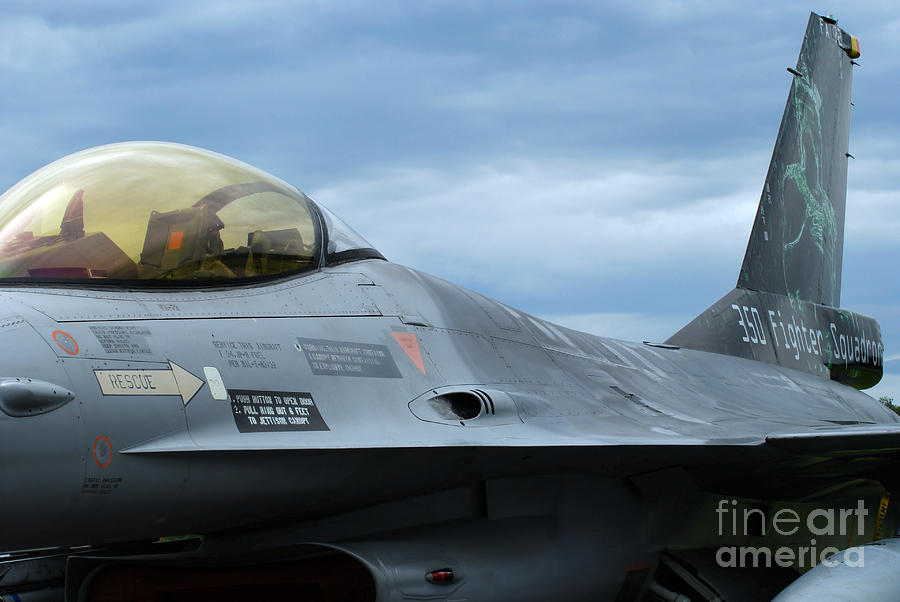 Aircraft Photograph - The F-16 Aircraft Of The Belgian Army by Luc De Jaeger