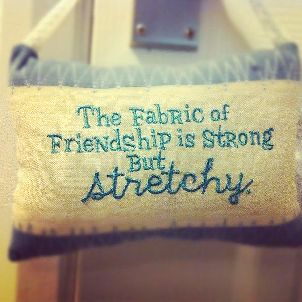 Sayings Photograph - The Fabric Of Friendship Is Strong But by Jennifer Colwell