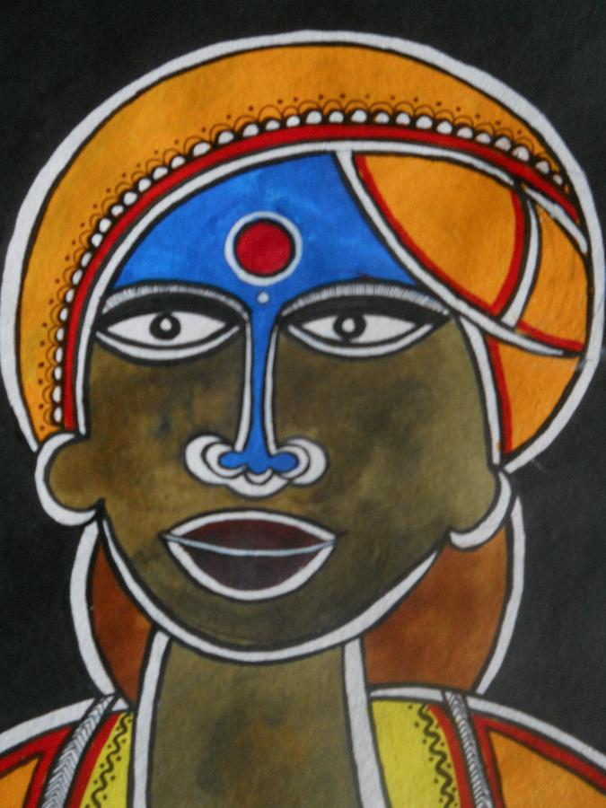 Paintings Painting - The Face by Paritosh Pal