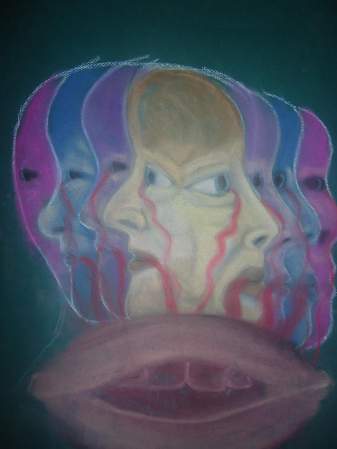 Depression Mixed Media - The Faces Of Depression by Cathy Snowbeck