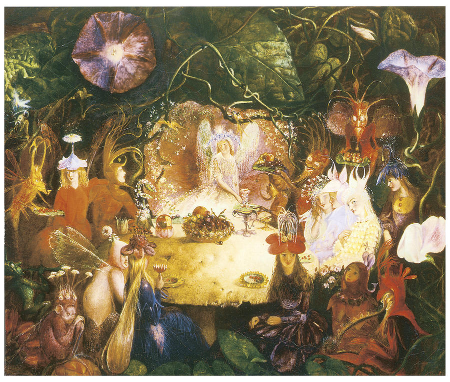 John Anster Fitzgerald Painting - The Fairies Banquet by John Anster Fitzgerald