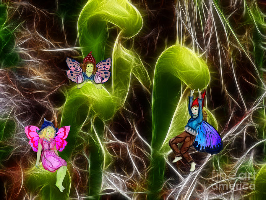 Fairy Painting - The Fairys Playground by Methune Hively