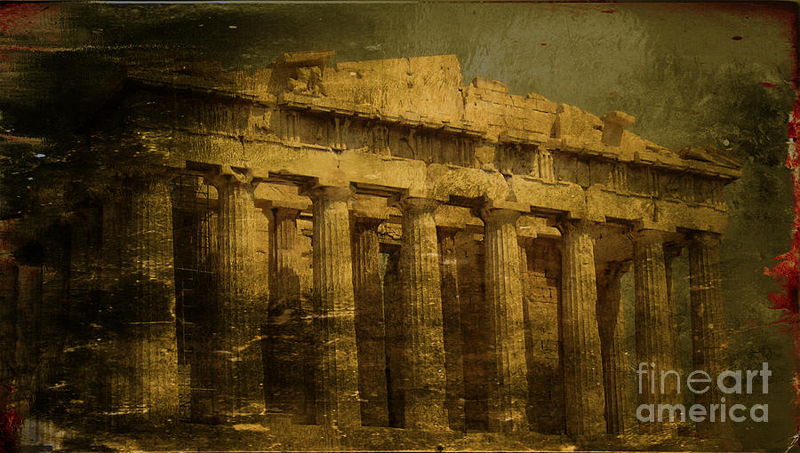 Acropolis Of Athens Photograph - The Fall Of Athens by Lee Dos Santos