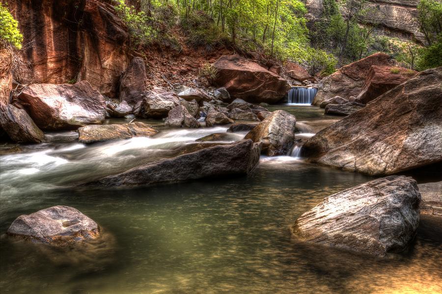 The Falls Virgin River Photograph