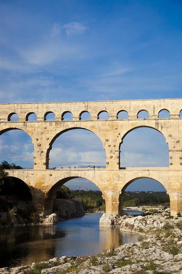 Day Photograph - The Famous Pont Du Gare In France by Taylor S. Kennedy