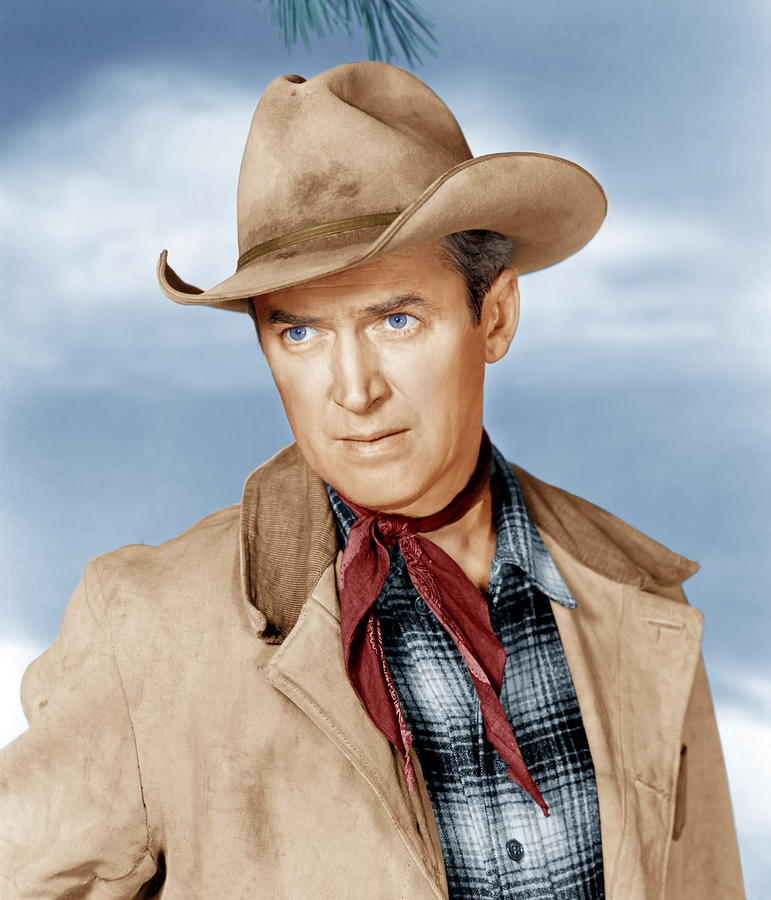 Cowboy Photograph - The Far Country, James Stewart, 1954 by Everett